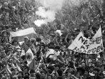 1985 SC Final sheep banner