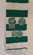Bar scarf with patches