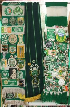 Celtic patches on scarf