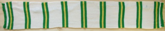 Green white and yellow mostly white