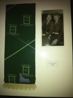 Keith's uncle's scarf with photo