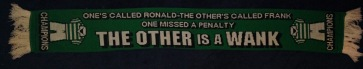 Lucky Celtic yfronts KDS Champs 2003-4 scarf with One's called Ronald line 2