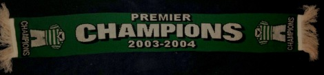 Lucky Celtic yfronts KDS Champs 2003-4 scarf with One's called Ronald line