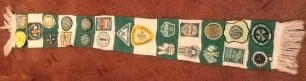 Wolfe Hboard Scarf with patches