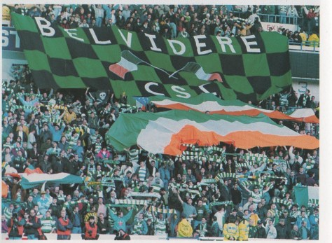 Belvidere CSC banner at Ibrox, 1990s