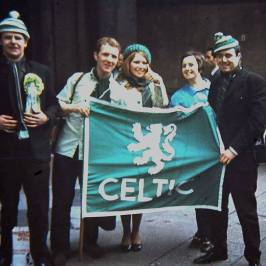 Celtic lion banner, 1970