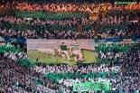 Green Brigade Original Total Football banner v Ajax