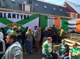 Iceland Cumbernauld Bhoys and Dumfries banners
