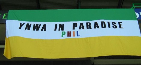 Phil O'Donnell tribute banner