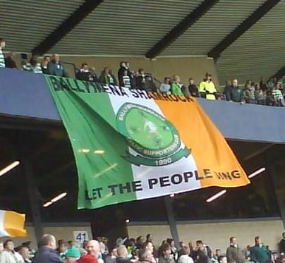 Ballymena Shamrock CSC banner - Let the People Sing