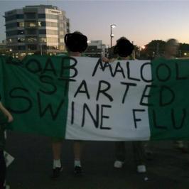 Boab Malcolm started swine flu banner