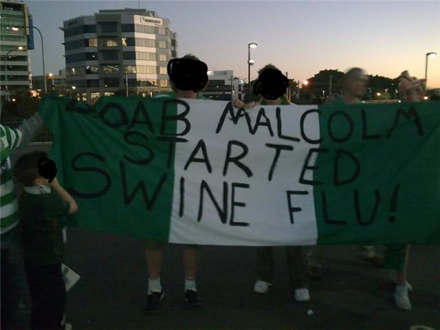 Boab Malcolm started swine flu!