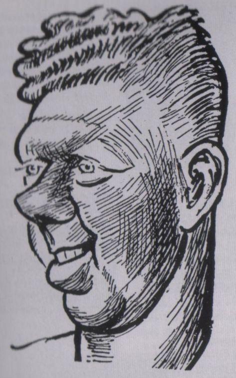 Bobby Evans cartoon