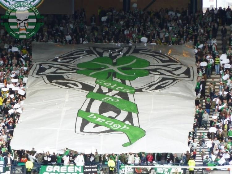 Celtic Go Bragh banner - Green Brigade