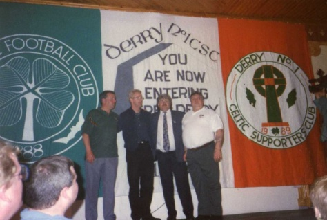 Derry No.1 CSC banner (with Tommy Burns)