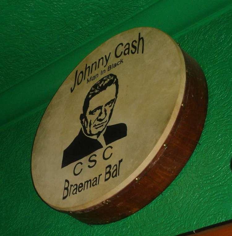 Johnny Cash Man In Black CSC - Bodhran not a banner!