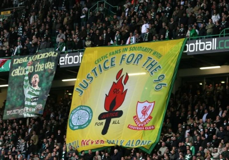 Solidarity - Justice for the 96 banner (Jungle Bhoys)