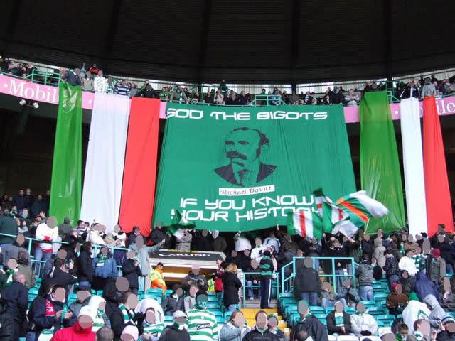 Michael Davitt -  Sod The Bigots banner (Green Brigade)