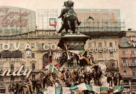 Celtic fans in Milan 1970, European Cup Final