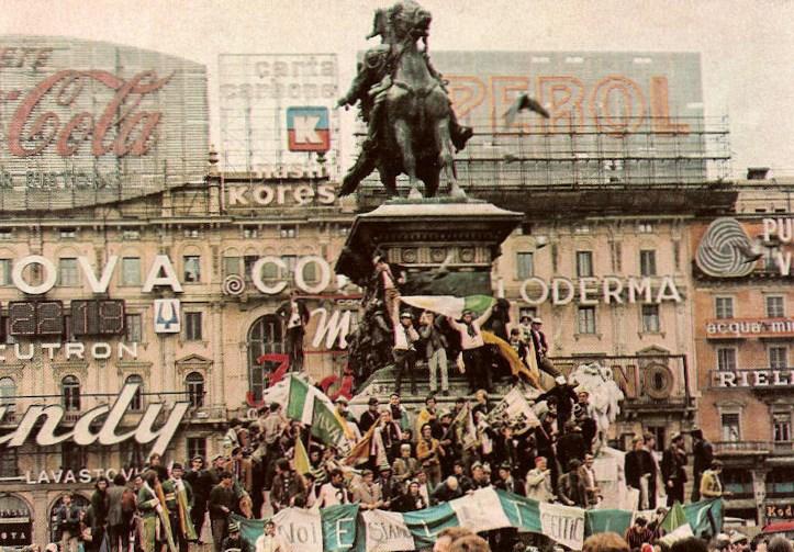 Celtic fans in Milan 1970, European Cup Final