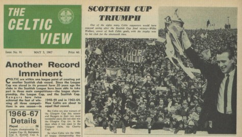 'Oor Wullie' Willie Wallace banner - 1967 Scottish Cup Final (Celtic View)