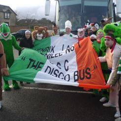 Penilee Disco bus and fancy dress