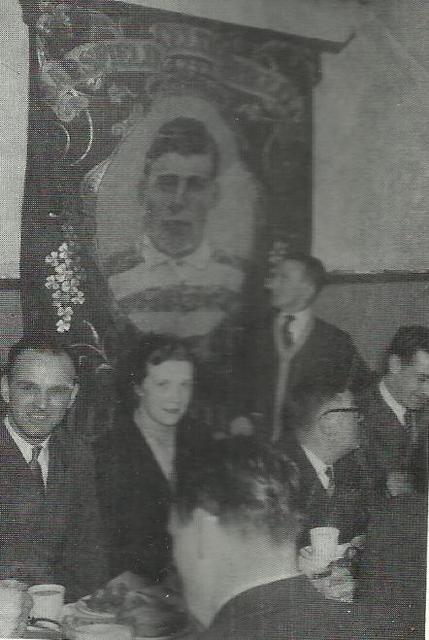 Sarsfield (Gorbals) supporters club banner 1952