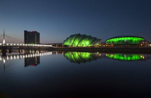 Glasgow is Green and White - for St. Patrick's Day!