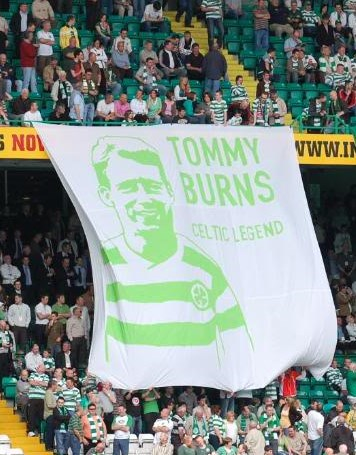 Tommy Burns memorial banners (Jungle Bhoys)