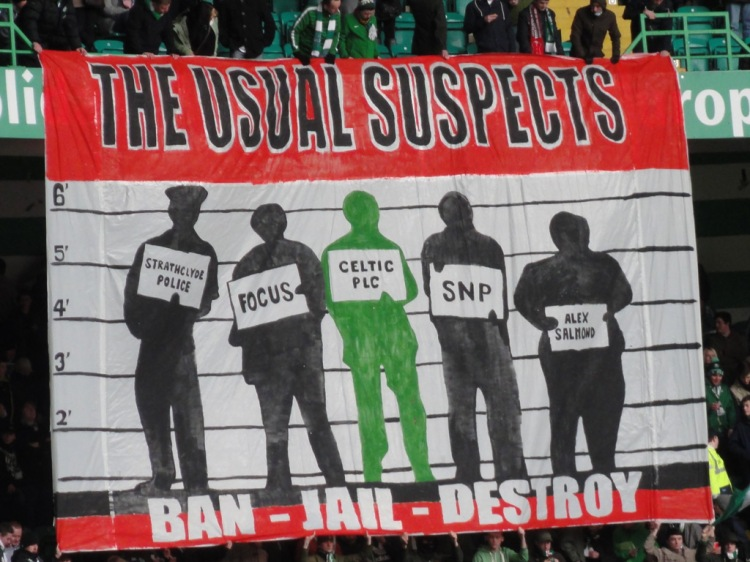 The Usual Suspects banner - Green Brigade