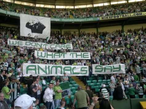We Don't Care What the Animals Say banners - Green Brigade
