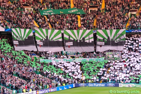 We're On The One Road banners/display - Green Brigade