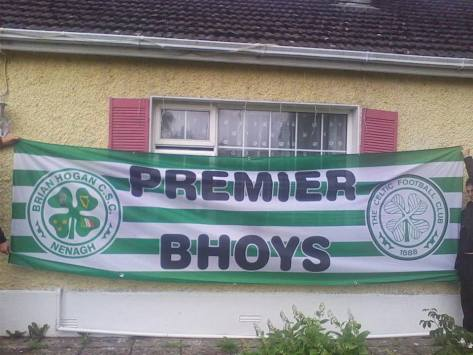 Celtic Banners - Brian Hogan CSC, Premier Bhoys