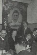Sarsfield Banner 1952 at a function Joe Dodds