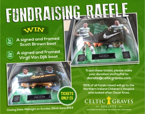 Win Broony and VVD's match boots!  Fundraising raffle for Celtic Graves Society