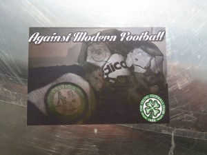 Against Modern Football with Celtic scarf