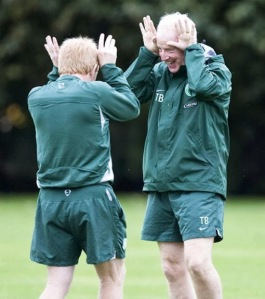 Tommy Burns and WGS horsing around