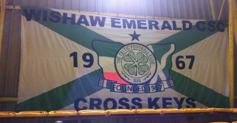 Wishaw Emerald CSC  banner at Fir Park