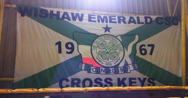 Wishaw Emerald CSC  banner at Fir Park