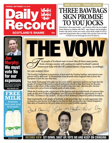 Daily Record  set straight