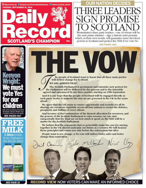 Daily Record   The Vow