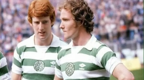 Johnny Doyle and Tommy Burns in hoops