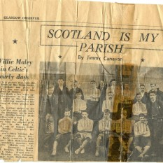 1890s squad pic in Glasgow Observer following W Maley's death