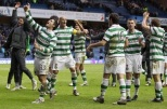 2011 Celtic players celebrate at Ibrox