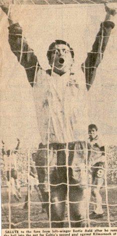 Bertie Auld shammy jersey celebrating