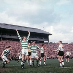 Billy McNeil celebrates 1965 Scottish Cup final