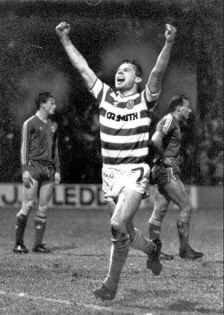 Brian McClair celebrates v Aberdeen