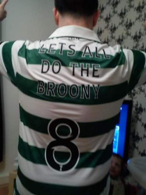 Broony  back of shirt