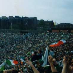 Celtic End at Hampden 1990 Cup Final v Aberdeen 2