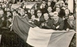 Celtic fans 1960s big tricolour